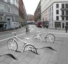 Sleek bike storage