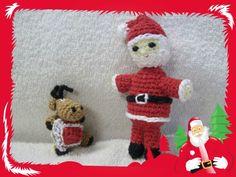 Papai Noel e Rena Amigurumi