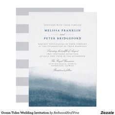 Ocean Tides Wedding Invitation