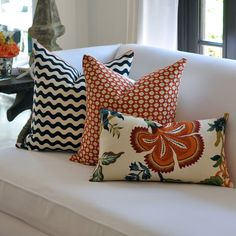 Good tip for pillows on a sectional | My Home | Pinterest ...