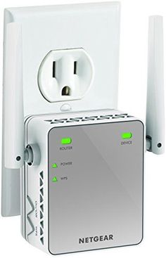 NETGEAR WiFi Range Extender - Coverage up to 1200 sq. and 20 devices with Dual Band Wireless Signal Booster & Repeater (up to speed), and Compact Wall Plug Design Stronger Wifi Signal, Ranger, Best Wifi, Wifi Extender, Best Deals On Laptops, Wall Plug, Wireless Router, Home Network, Internet