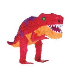 Go Jurassic with a T-Rex Dinosaur Pinata! T-Rex Dinosaur Pinata resembles an orange, yellow, and purple T-Rex in a menacing pose. Dinosaur Party Supplies, Dinosaur Party Favors, Dinosaur Birthday Party, 3rd Birthday, Birthday Ideas, Dinosaur Balloons, Pinata Fillers, Prehistoric Dinosaurs, Pinata Party
