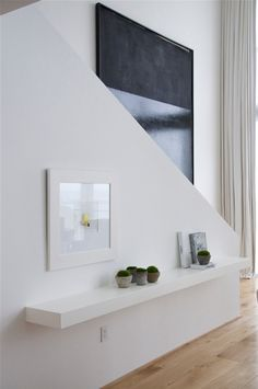 Floating shelf....& tone on tone....airy & extraordinary......Briggs Edward Solomon
