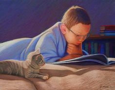 Jan McDonald born in Tucson (Arizona), USA more: Jan McDonald Artrisings Artodyssey Good Books, Books To Read, My Books, Reading Art, Reading Nook, Middle School Art, Illustration, Book Reader, Love Book