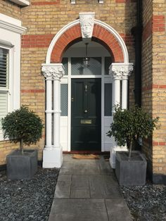 Green Victorian front door recently installed in north London Traditional Front Doors, Victorian Front Doors, North London, Bespoke, Garage Doors, Outdoor Decor, Green, Blog, Home Decor