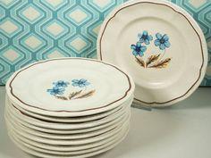 Dessert plates Ironstone Kensington by ThatVintageWorld on Etsy