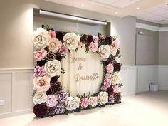 Paper Flower Wall, Paper Flower Backdrop, Giant Paper Flowers, Bridal Shower, Baby Shower, Diy Wedding Decorations, Wedding Ideas, Bridesmaid Dresses, Wedding Dresses