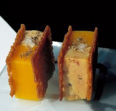 corte de terrina de foie-gras de pato y mango. El Bulli