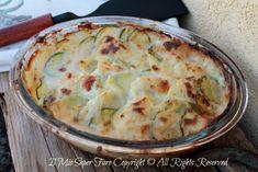 Patate e zucchine al gratin
