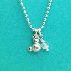water molecule necklace  H2O molecular jewelry by molecularmuse,