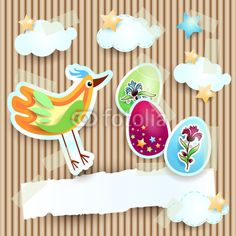 New design, #Easter card #vector
