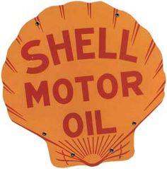 vintage original porcelain shell premium gas pump plate