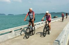 5-Day Bangkok to Samui Island Electric Bike Tour Explore the beautiful scenic coastal roads of South Thailand, a wonderful combination of nature, culture, climate, and friendly people. Vacation on the beautiful beaches, swim in the warm ocean, do some sun bathing, and cycling. This guided tour is designed for a half-day of riding and another half-day for activities, such as chilling on the beach, or you may design your own relaxing time. A self-guided option is also available....