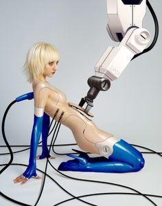 cyberpunk, futuristic art, girl, future, futurism, cyber, cyborg, cyber girl, nu, nude, fantastic, sci-fi, scifi, sci-fi girl, cyber girl by FuturisticNews