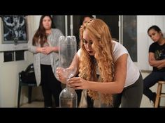Minute to Win It: Bottle Neckin' (Head-to-Head) - YouTube