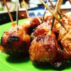 Bacon Wrapped New Potatoes  Ingredients  15 small new potatoes  5 slices bacon, cut into thirds  1 (1 ounce) package ranch dressing mix  15 toothpicks