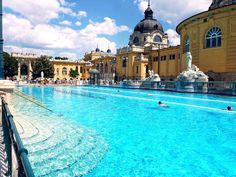 There are a lot of thermal baths and pools in Budapest but from my own experience I can recommend the Széchenyi Thermal Bath. The pools in there has different variation of temperatures; the outdoor pools are 7 to 38 °C (81 to 100 °F) while the indoor pools are about 27 °C (81 °F). They also have saunas, steam rooms and massage services.