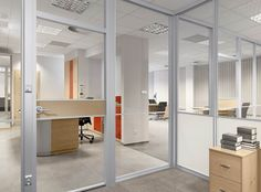 Komandor - sliding door systems, furniture accesoires, office partition walls » The AURORA partition system