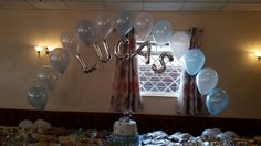 Beautiful Christening and Birthday arches from www.balloonsleeds.com Christening Balloons, Balloon Pictures, Celebration Balloons, Wakefield, Decorate Your Room, The Balloon, Leeds, Arches, New Baby Products