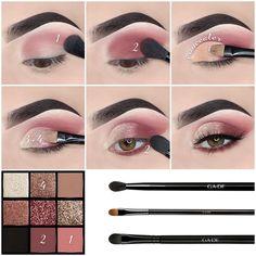 What do you think 😍 or 👎🏻? Makeup used: 🌸Brows: Dipbrow Pomade (Ebony), Brow Wiz (Ebony) & Clear Brow Gel - Eyebrow Makeup Tips, Makeup Eye Looks, Eye Makeup Steps, Simple Eye Makeup, Cute Makeup, Smokey Eye Makeup, Beauty Makeup, Eyeshadow Tips, Eyeshadow Makeup