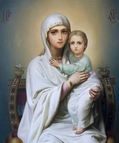 Russian Orthodox Icon of the Blessed Virgin Mary