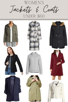 A round-up of all the best fall jackets and coats from Walmart for under $60 for women, men, girls, and boys.