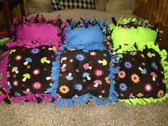 DIY classroom- felt sit-upon pillows for the classroom library/reading time