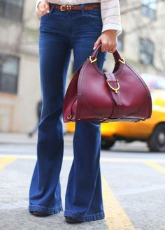 Gucci Stirrup handbag in oxblood with Cuir leather and goldtone hardware