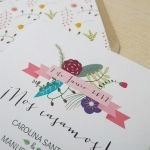 Invitación boda, Florecitas
