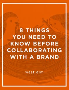 Small business tips: What to know before collaborating with a brand and other tips for small businesses on the west elm blog!