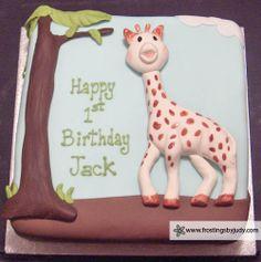 Sophie the Giraffe Birthday Cake!