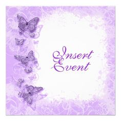 Purple White Wedding Anniversary Birthday Invitation