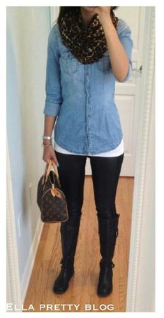 Love it! Jeans shirt and leggings