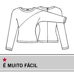 Molde Manequim - Blusa de manga comprida com brilho - Tamanho 42