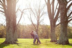 Great trees and a dip/kiss always makes for a great picture | Virginia Wedding Photographer | Aaron Watson Photography