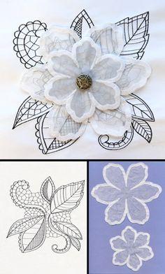 Soft Bloom (Applique) design (UTZ2294) from UrbanThreads.com