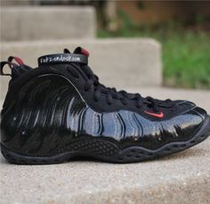 "Here's a first look at the Nike Air Foamposite One ""Black/Gold-Red"" Sample"