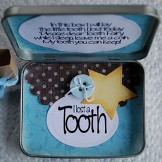 tooth fairy box… no more trying to find that ziplock bag under the pillow.