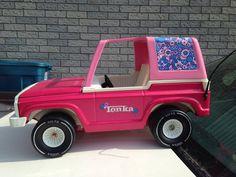 1970's TONKA JEEP/BRONCO T-TOP SUV PINK FLOWER POWER
