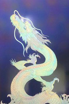 Dragon Oriental, Dragon Artwork, Chinese Dragon, St Michael, Psychedelic, Zodiac, Unicorn, Fairy, Japan