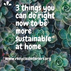 3 Things You Can Do Right Now To Be More Sustainable at Home http://ift.tt/1ZzOxEp Making changes to be more sustainable in your home matter. They matter enormously as we head into unknown territory in human history of massive changes to our environment as well as reducing resources that we have become accustomed to such as oil and coal fired energy.  Making these changes do not need to be massive. Sure it would be wonderful if we could all live in an off-grid world harvest all of our own…