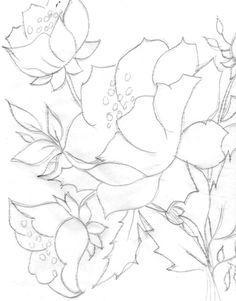 Картинки по запросу riscos de flores para pintura em tecido