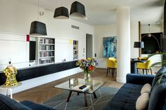 Contemporary apartment located in Warsaw, Poland, designed by Anna Koszela.