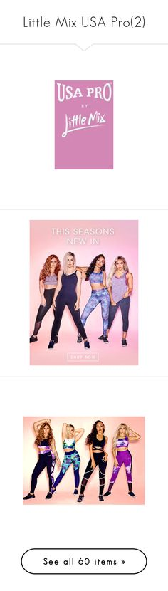 """""""Little Mix USA Pro(2)"""" by bossjamie21 ❤ liked on Polyvore featuring usa pro, tops, seamless top, cut-out crop tops, purple top, purple crop top, crop tops, activewear, sports bras and lingerie"""