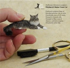 Absolutely L-O-V-E making the miniature animals ♡♡♡ Miniature Crafts, Miniature Dolls, Polymer Clay Miniatures, Dollhouse Miniatures, Needle Felted Animals, Needle Felting, Clay Art Projects, Dollhouse Tutorials, Victorian Dolls