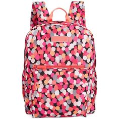Vera Bradley Lighten Up Grande Backpack ($98) ❤ liked on Polyvore featuring bags, backpacks, pixie confetti, paisley bag, vera bradley bags, print paper bags, vera bradley backpack and lightweight daypack