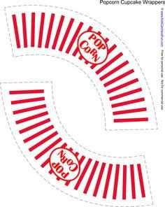 party Free Popcorn Cupcake Wrapper www. Free Popcorn Cupcake Wrapper www. Popcorn Cupcakes, Carnival Birthday, Birthday Party Themes, Birthday Ideas, Kino Party, Cinema Party, Free Popcorn, Movie Night Party, Movie Nights