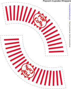 Free Popcorn Cupcake Wrapper http://www.kidscanhavefun.com/party-planning.htm #party #cupcake #partyideas