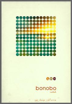 Bonobo tour poster.