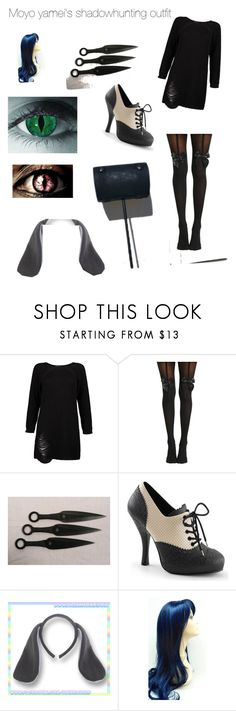 """""""Oc: Moyo Yamei's shadow hunter outfit"""" by chaoticduck ❤ liked on Polyvore featuring Boohoo, Hot Topic and Usagi"""